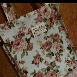 玫瑰側背袋
