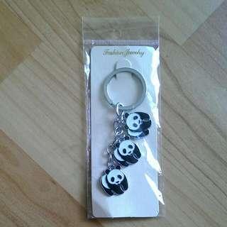 貓熊 熊貓 鑰匙圈