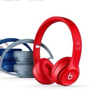 現貨紅色正品 Beats Solo2 耳機全新