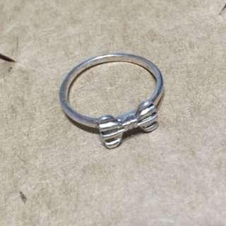純銀8號蝴蝶結戒指