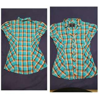 Guess Checked Ladies Shirt Blouse