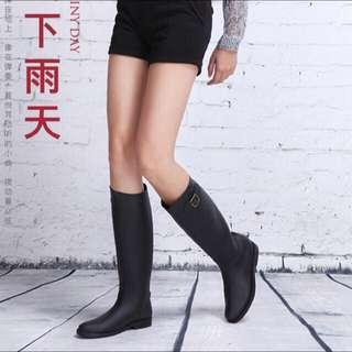 時尚高筒雨鞋 黑