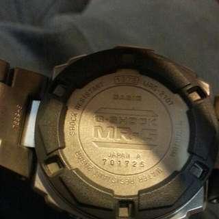Casio gshock mrg 210t-8 鈦電子錶