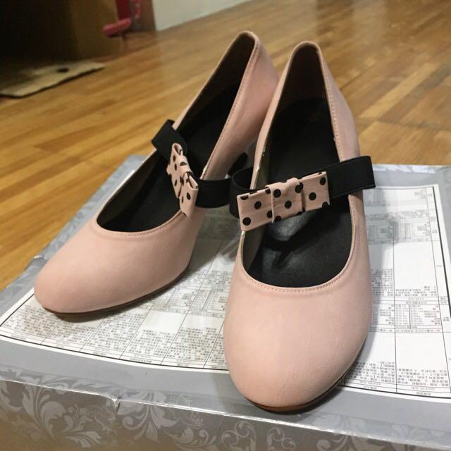 👏二手👏粉色氣質高跟鞋