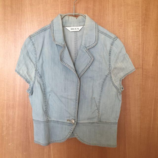 短版氣質外套