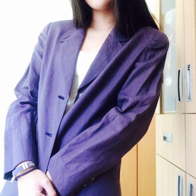 (降價!!!!!!)古著 紫色大衣