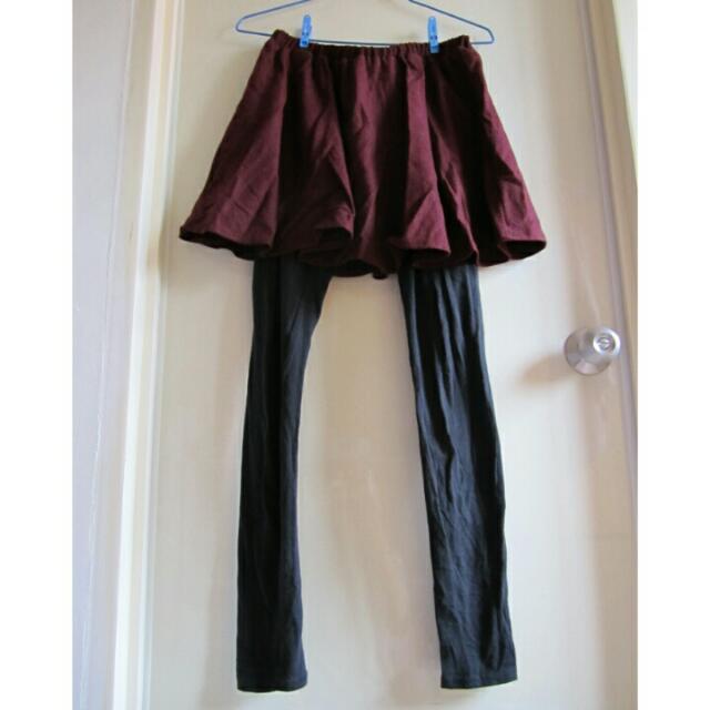 假兩件短裙褲裙內搭褲