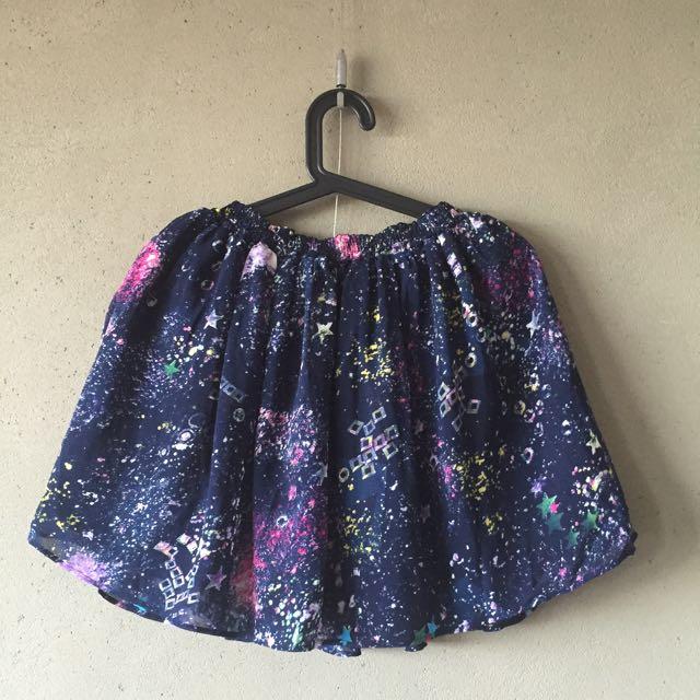 [二手]2way雙面銀河/皮裙 9成新 F size