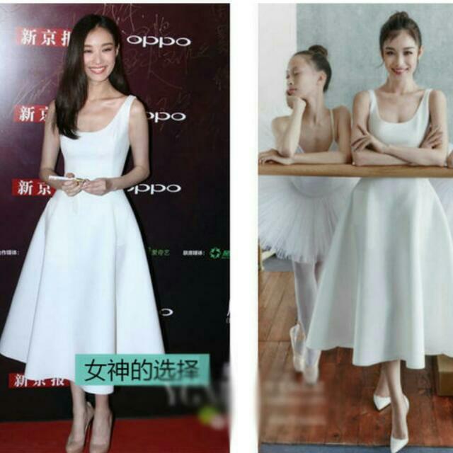 促銷  全新(長短)瑕疵 明星小時代同款白色大擺伴娘服