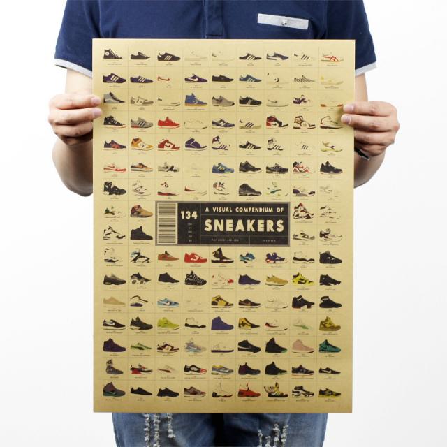 球鞋流行年代 牛皮紙海報