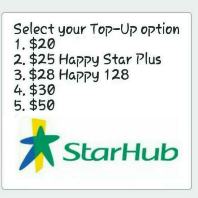 📱Cheap & Fast StarHub Prepaid Top Up  📲