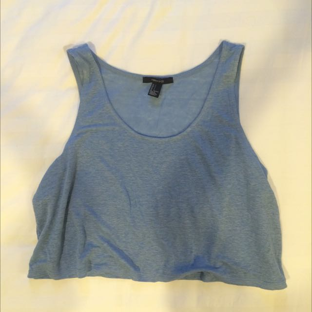 F21 Blue Sleeveless Top