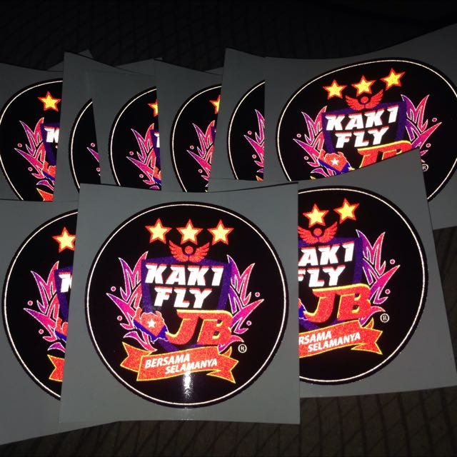 Kakifly jb reflective sticker sports on carousell
