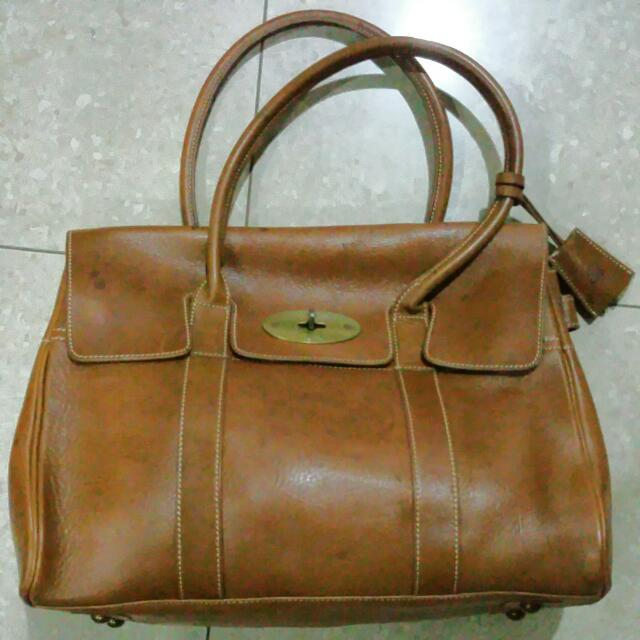a18013d708 SALE  Mulberry Inspired Brown Leather Bag
