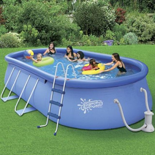 Summer Escapes Oval quick set pool 15x9x42 -NEW IN BOX - $475 (San Diego)