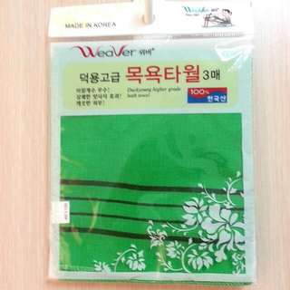 韓國製 神奇搓澡巾 去角質 全新