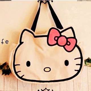 日本帶回 kitty臉 手提 肩背 包 購物 旅行 袋