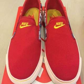 Nike 懶人鞋 花卉 紅