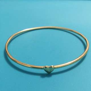 Gold Colored Heart Bracelet