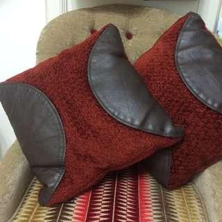 Leather-fabric Cushion