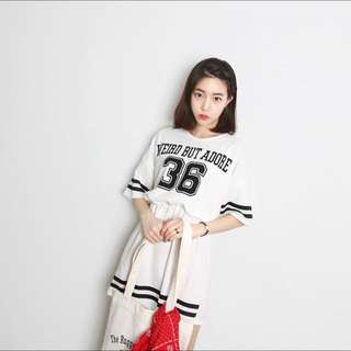 "{ INSTOCK } ""Weird But Adore"" Varsity Jersey Tshirt Dress (Babydoll)"
