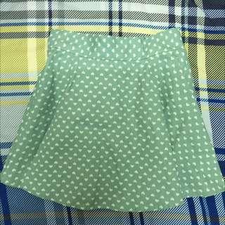 含運💕小愛心藍綠裙