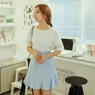 Skirt in Pastel Blue