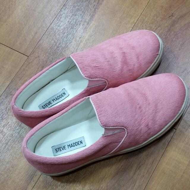 粉紅馬毛便鞋38-39