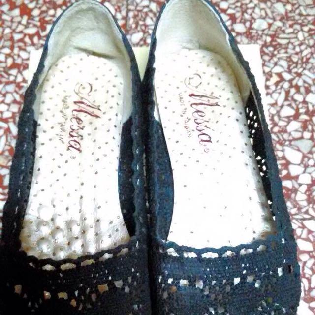 🎉(降價嘍)蕾絲平底鞋(黑色)