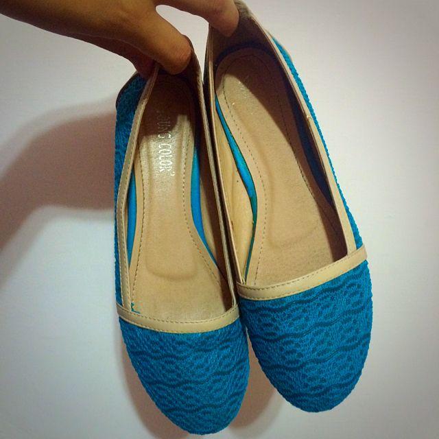 (含運)藍綠色包鞋