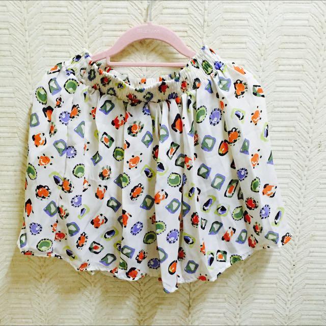 1+1免運/ 可愛彩色豹紋雪紡短裙