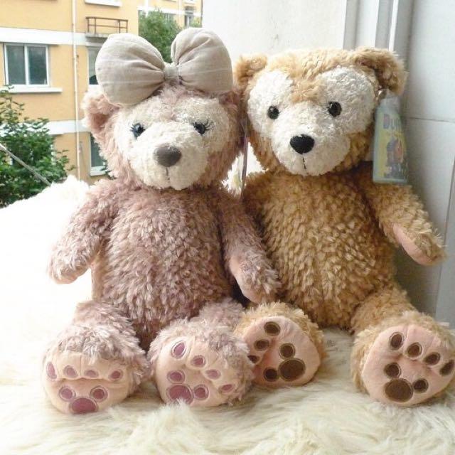 🇯🇵日本東京迪士尼 達菲熊 Duffy & Shelliemay S號 43公分娃娃布偶