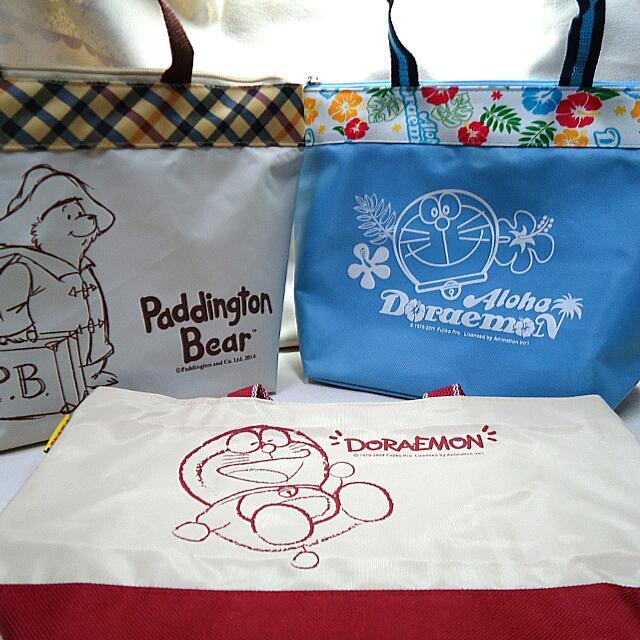 (全新) 柏靈頓熊 Paddington Bear/多啦A夢 餐袋 小提袋