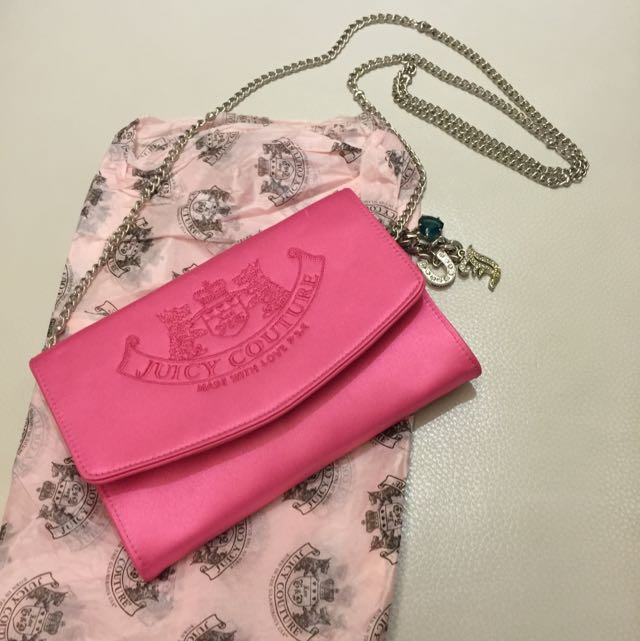 Juicy Couture 蜜桃粉紅鏈包