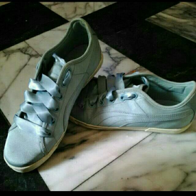 Puma淺藍款緞帶鞋