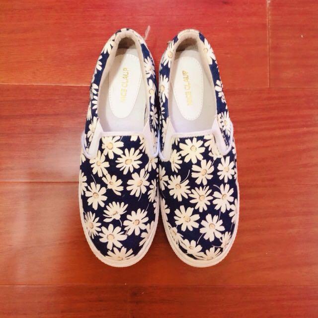 日單日本ViVi知名品牌nice claup雜誌揭載款花復古增高厚底福樂懶人鞋