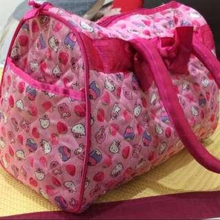 🚚 代售(絕版)全新 日本🇯🇵 三麗鷗 Sanrio聯名款 Hello Kitty 凱蒂貓 x Little TwinStars 雙子星 草莓 托特包 手提 包包 曼谷包 波士頓包