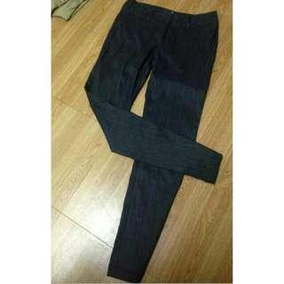 專櫃Rex&Co顯瘦黑色西裝長褲