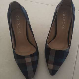 BN - Checked Heels - Size 36/37