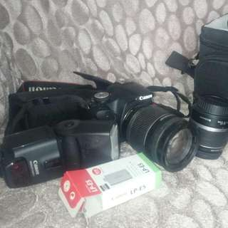 Canon 500d kit With Extra Lens 18-200mm