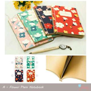 Flower Plain Notebook
