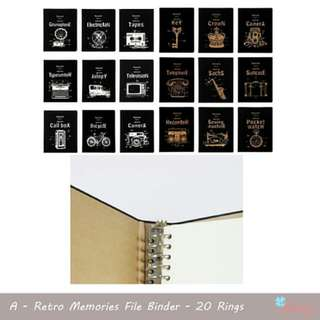 Retro Memories File Binder 20 Rings