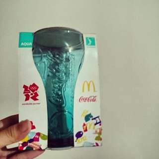 杯子 玻璃杯 麥當勞 藍綠色 經典 絕版品 時尚 足球 運動 生活 廚具 送禮