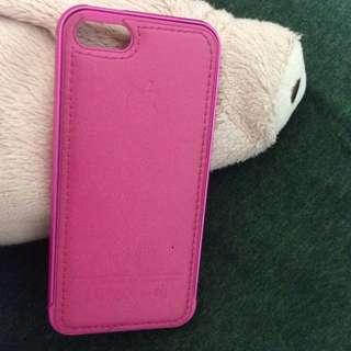 Iphone5/5s 皮質金屬邊框手機殼