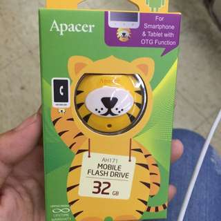 Apacer OTG碟 USB 32G 老虎碟