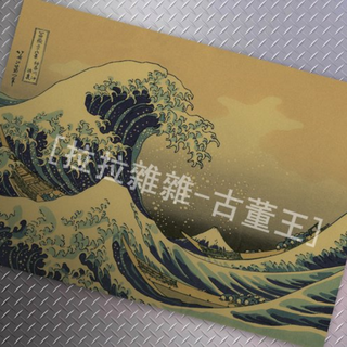 日本浮世繪 牛皮紙海報