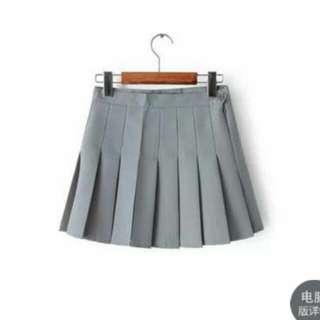 全新 灰 百折裙 網球裙 百摺短裙