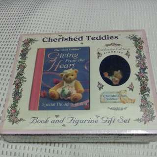 Cherished Teddies With Exclusive  Edition Figurine. Price Reduced!