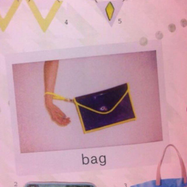 果凍紫手拿包