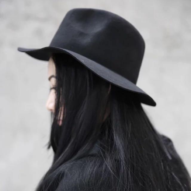 【二手/降價免運費】正韓貨男女可帶復古紳士黑色禮帽